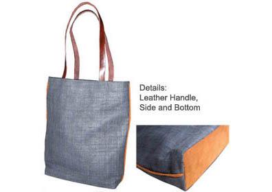 hemp shoulder bag with handles