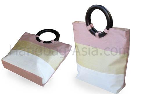 Three tone Thai silk bag