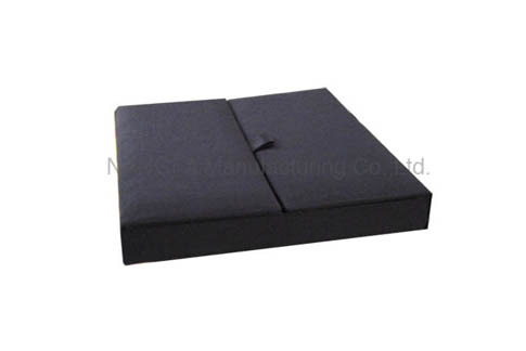 Black gatefold box for wedding invitations
