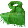 apple green taffeta silk shawl