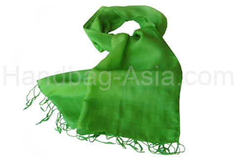 apple green taffeta silk shawl