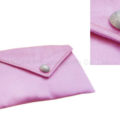 Pink padded silk envelope for wedding invites and jewelry