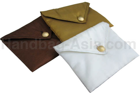 silk wedding pouch