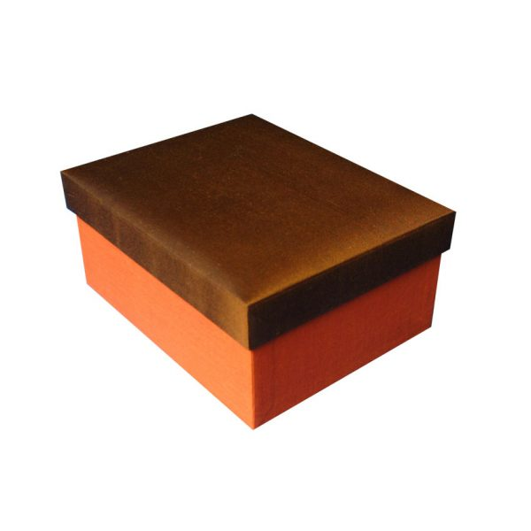 Chocolate brown Thai silk box