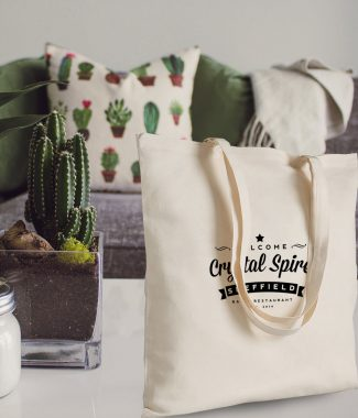Example design of our promotional cotton tote bags