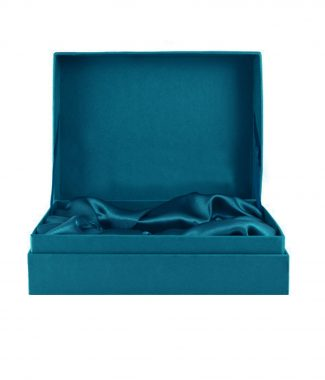 Teal Thai silk box