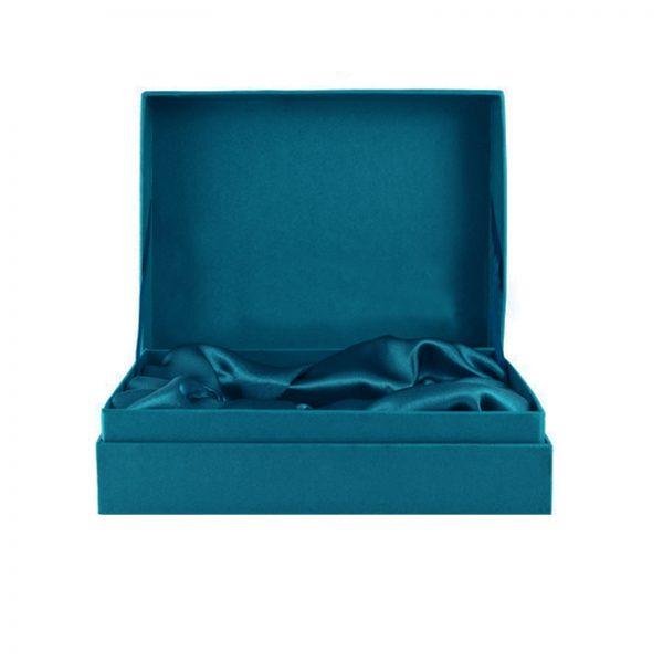 Teal Thai silk box