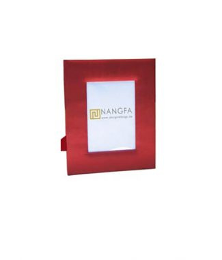 red silk photo frame