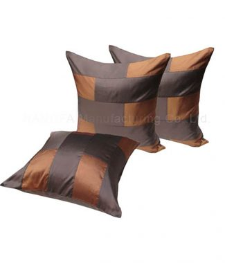 Brown silk cushion set