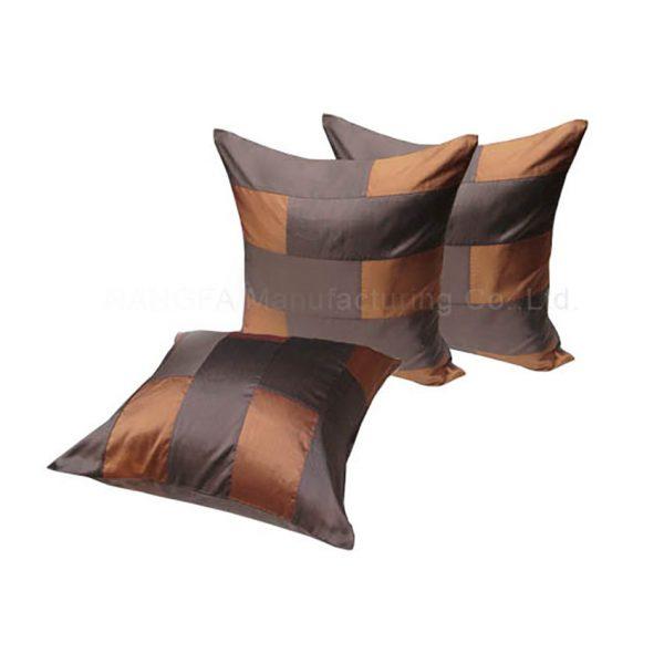 Brown silk cushion set