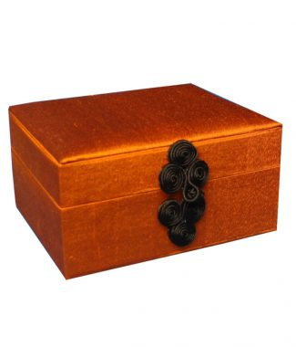 Thai silk gift box by Prestige Creation's silk box factory