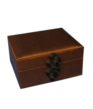 Thai silk jewelry box
