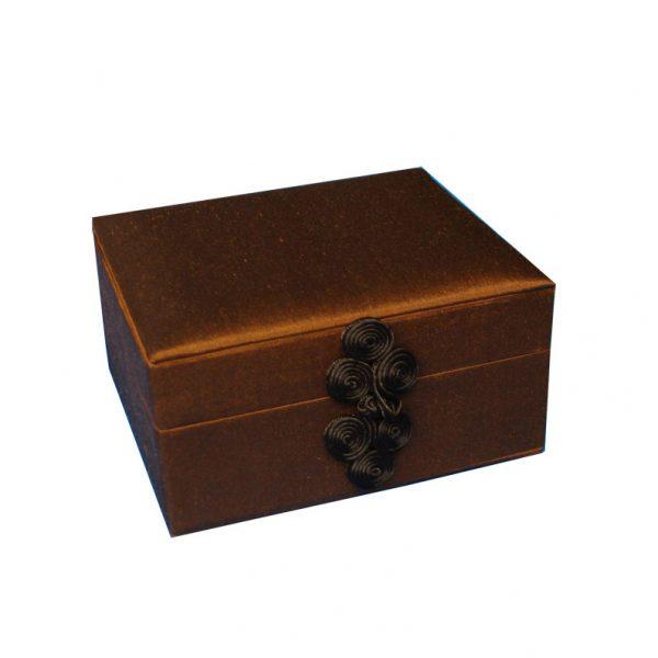 Thai silk jewelry box