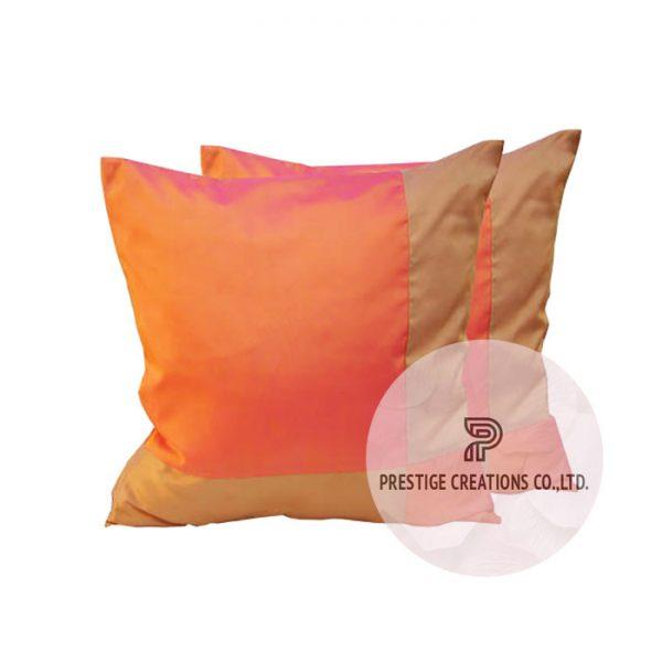 Thai silk cushion, orange