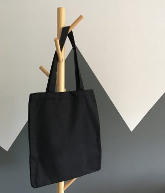 Black cotton shoulder bags