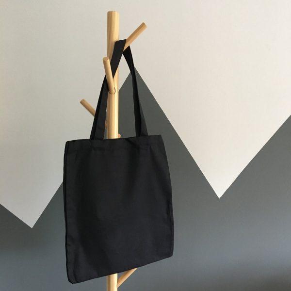 Black cotton shoulder bags