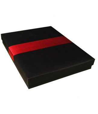 Black & Red Thai Silk Box