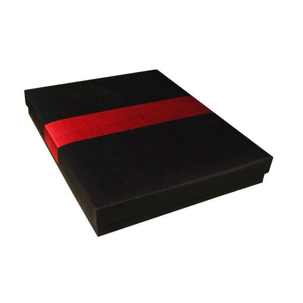 Black & Red Thai Silk Box