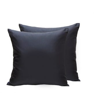 Black silk cushion