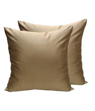 Golden Thai silk cushion