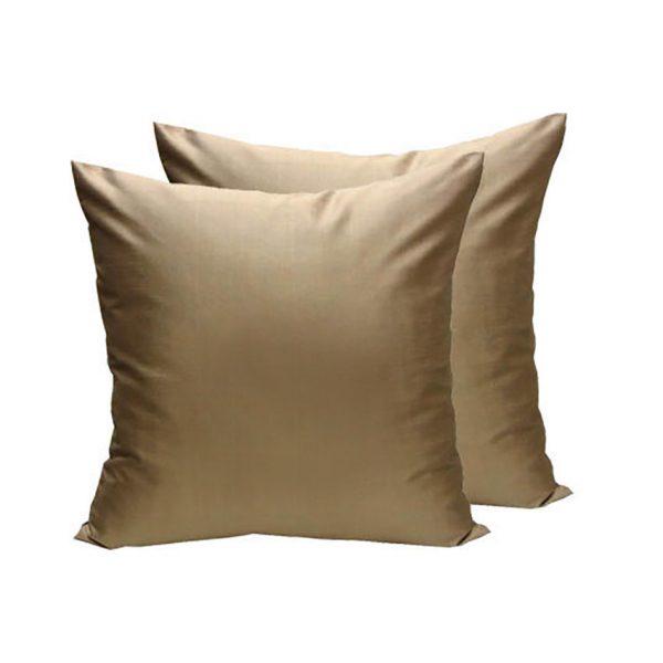 Golden Thai silk cushion