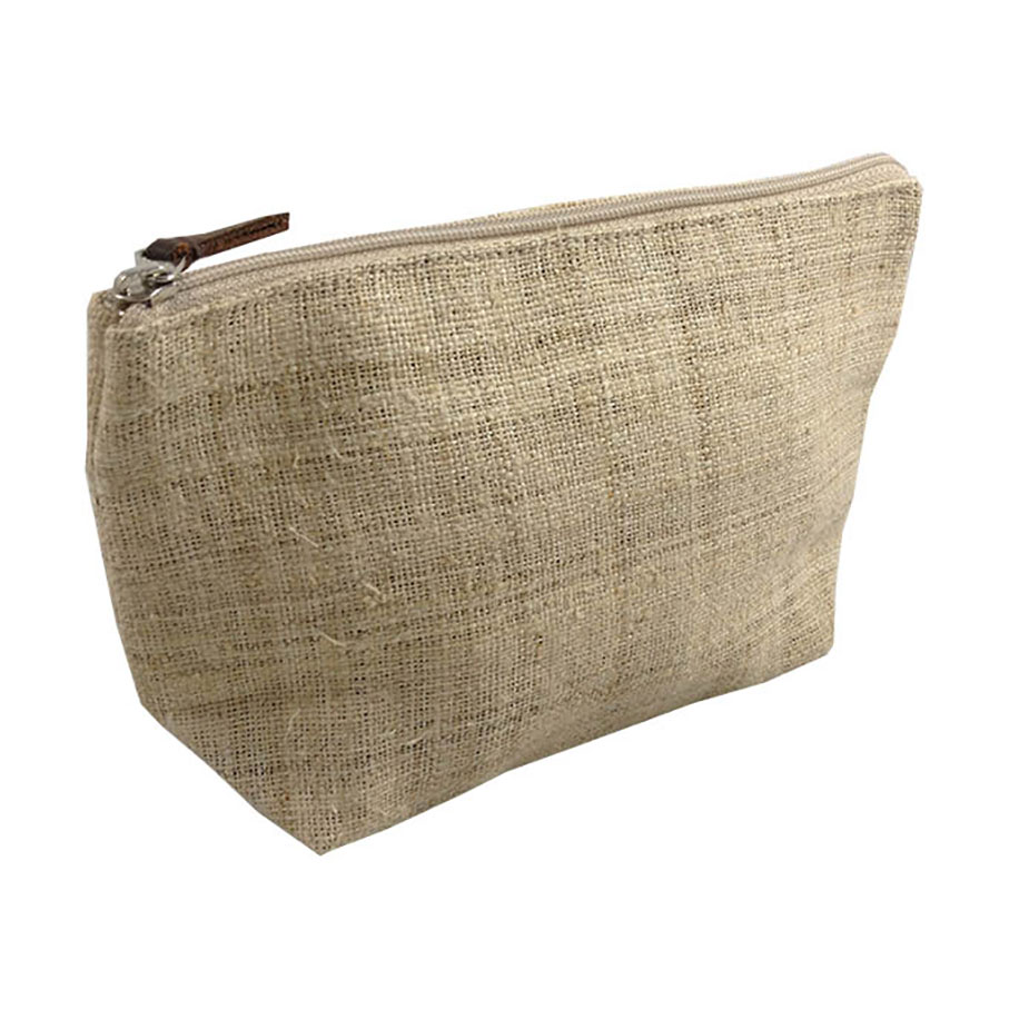 Hemp Cosmetic Bag With Ykk Zipper