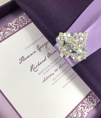 Luxury square shaped boxed invitation