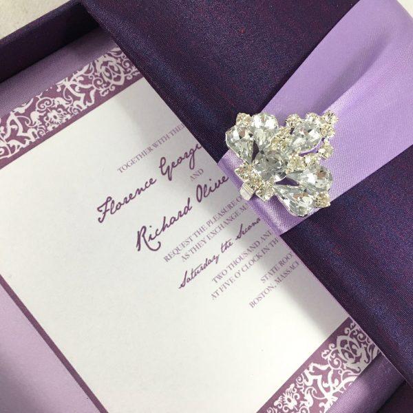 Luxury square shaped boxed invitation