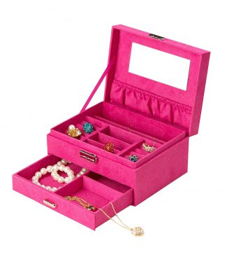 luxury suede drawer box for jewelry