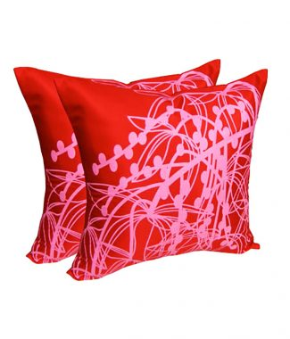 Modern printed art silk cushions