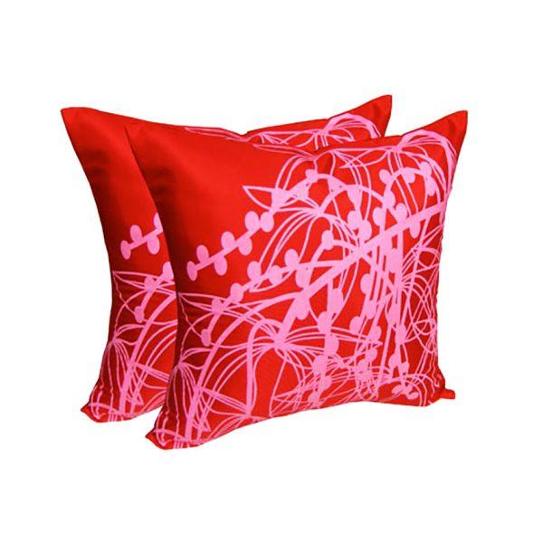 Modern printed art silk cushions