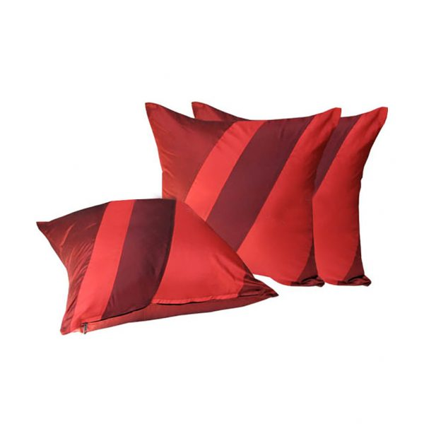 red silk pillow