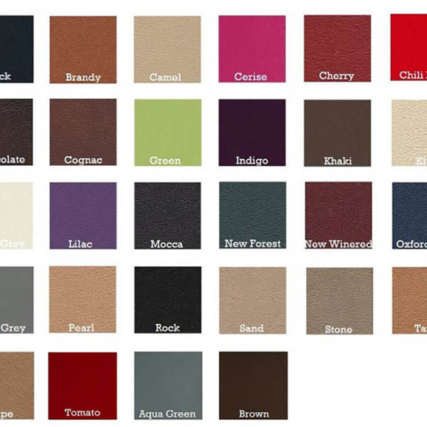 suede color chart