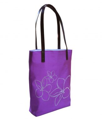 Flower printed Thai silk handbag