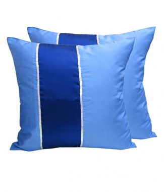 Thai silk cushion in blue