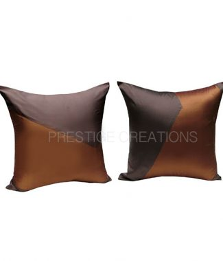 brown Thai silk cushions for Asian decor