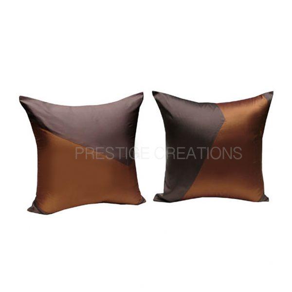 brown Thai silk cushions for Asian decor