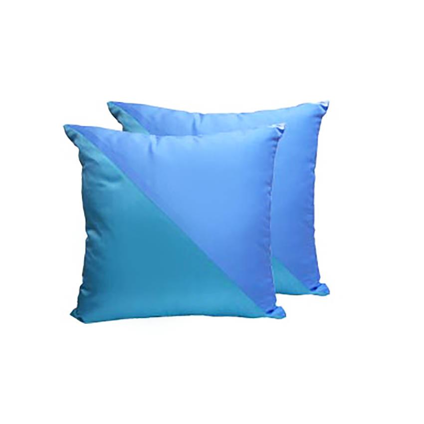 Beautiful Thai Silk Cushion Cover With Handwoven Aqua Blue