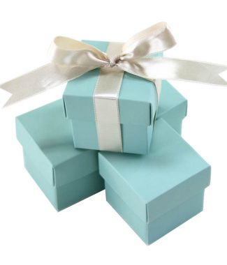 Tiffany blue favor box