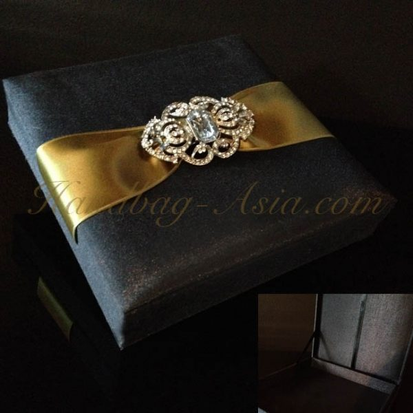 Luxury black wedding box