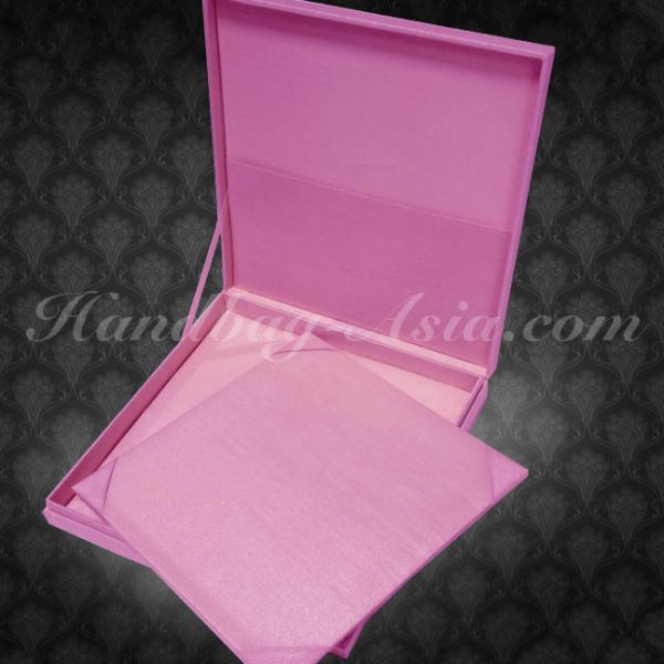 pink boxed wedding invitations