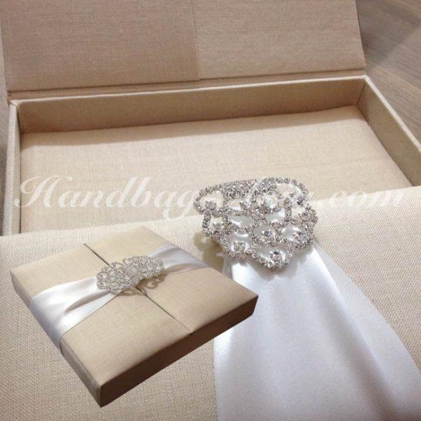 linen box for wedding invitations