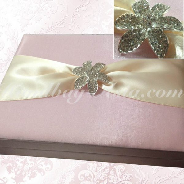 rose pink wedding boxes for invitations