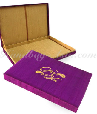 Embroidered Wedding Invitation Box For Wedding, Baptism & Christening Invitations
