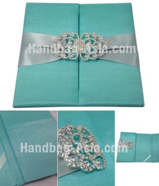embellished wedding folder for invitation cards
