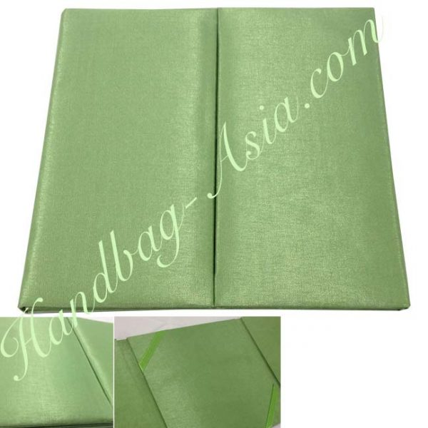 green wedding invitation folio