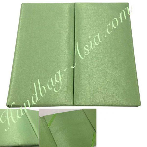 green wedding invitation folio