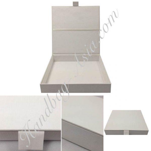 Handmade white wedding invitation box