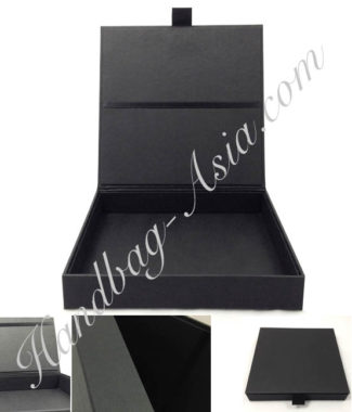 black paper invitation box