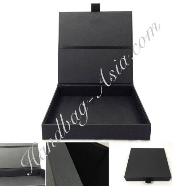 black paper invitation box